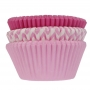 Хартиени форми за мъфини - Асорти в розово - 75 бр