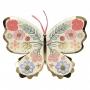 Парти чинии - MeriMeri - Цветни пеперуди